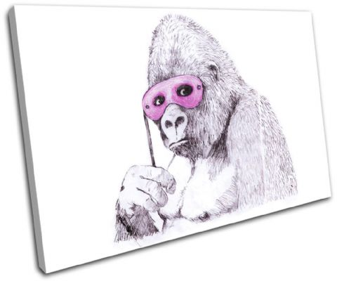 Monkey Mask Banksy Painting - 13-1426(00B)-SG32-LO